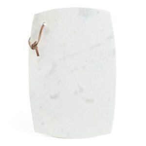 deska marmurowa biała kuchenna z rzemykiem