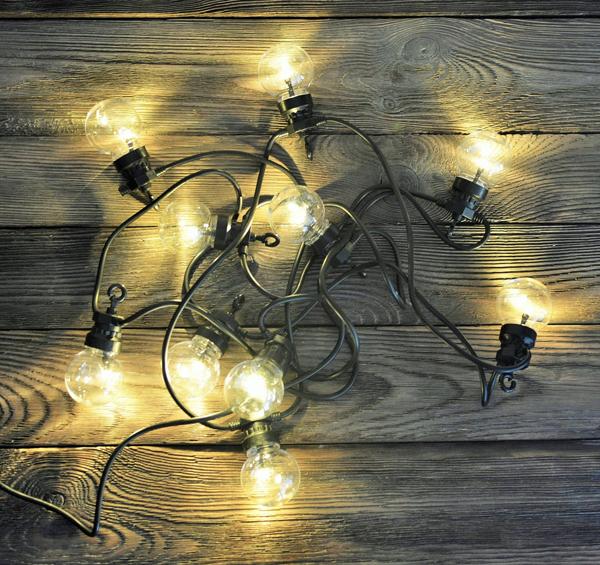 Gilanda świetlna czarny kabel przezroczyste ogrodowe