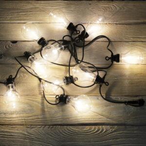 Lampki LED żarówki na kablu sznurze, girlanda świetlna ogrodowa