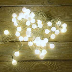 lampki choinkowe ciepłe kulki na przezroczystym kablu choinkowe zewnętrzne