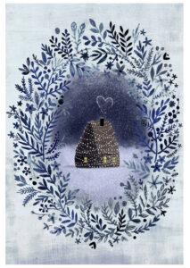 kartka świąteczna domek