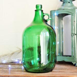 Gąsior 5-litrowy w kolorze butelkowej zieleni ozdobny