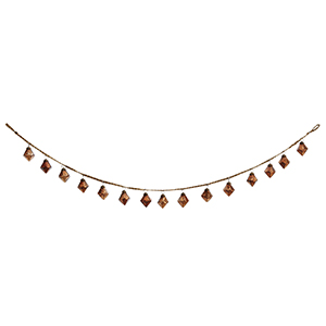 Girlanda złożona z bombek diamentów w kolorze miedzi na jutowym sznurku