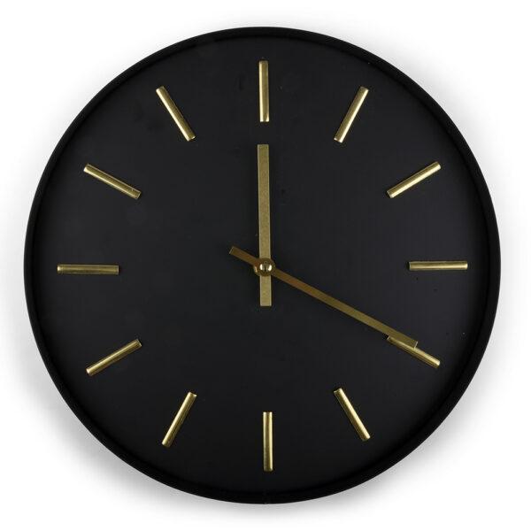 zegar czarny metal